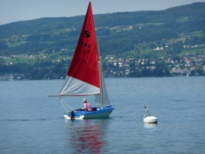 Dinghy sailing on Lake Zurich